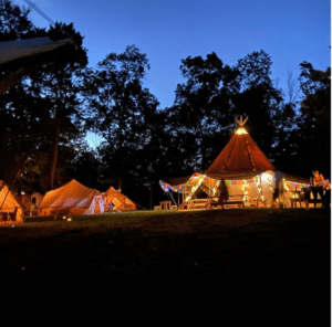 Tipi Party Rental for 50th Birthday Bash