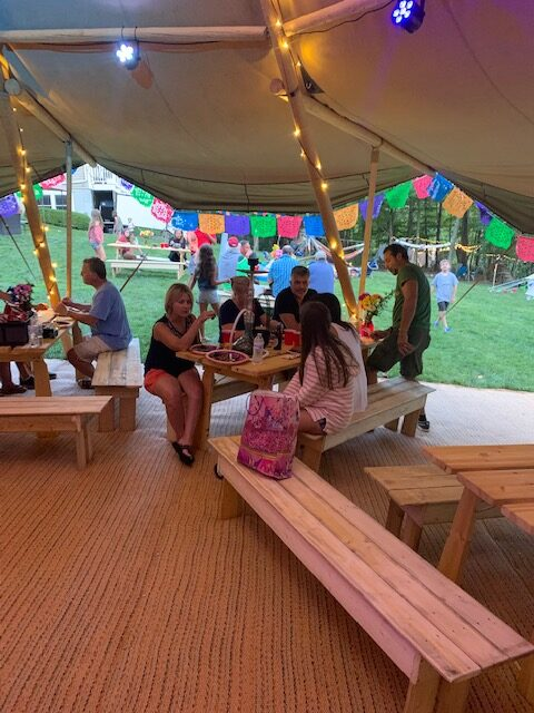 50th Tipi Birthday Party w/ Event in a Tent Tipi Rentals
