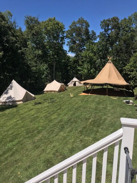 Event in a Tent and Glamp ADK Partner up at a 50th Tipi Style Birthday Bash in New York!